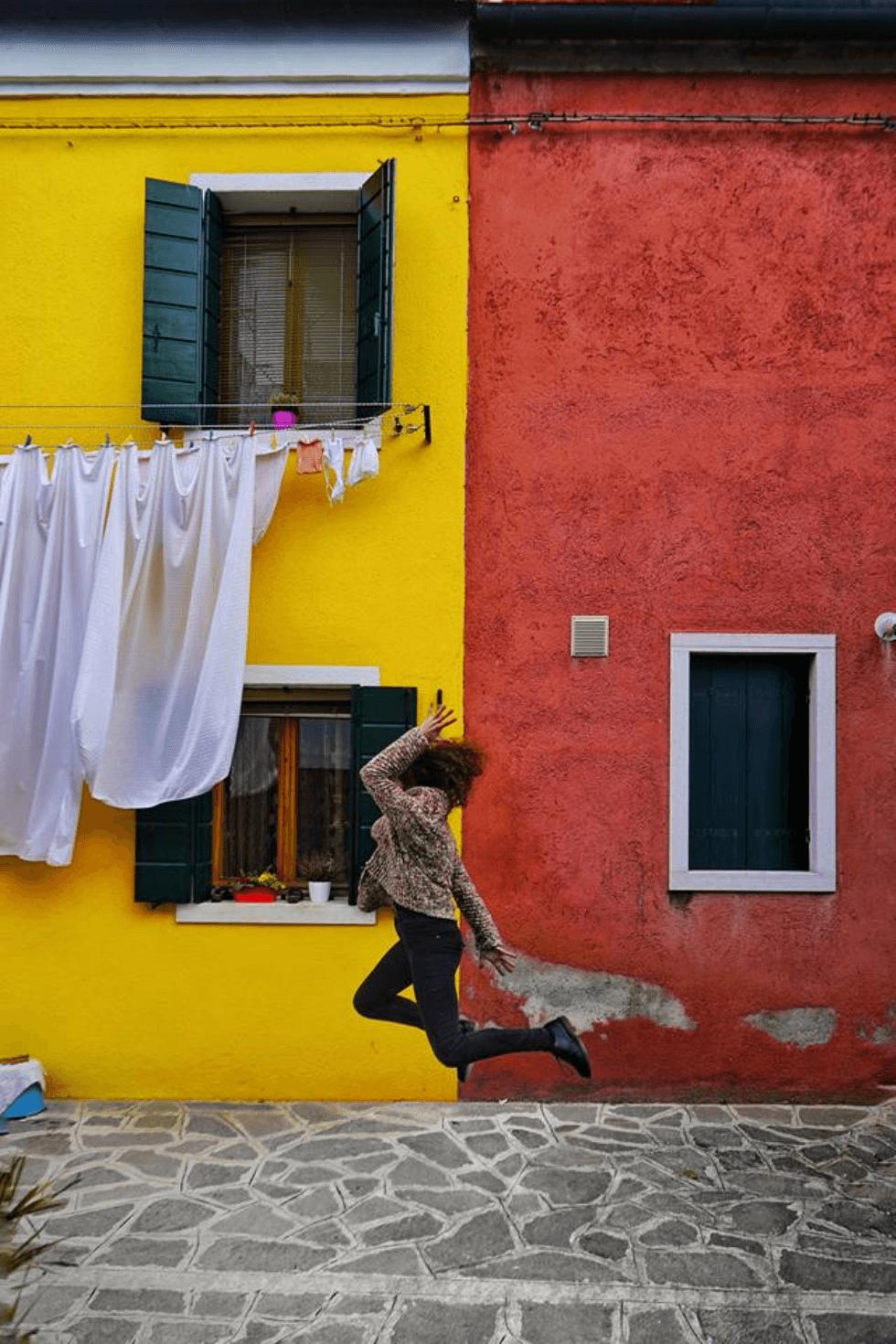 Un salto tra i vicoli di Burano vince Salta con dunp